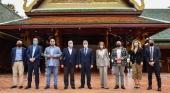 El presidente de Canarias Angel Victor Torres visita Loro Parque