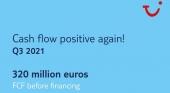 TUI Group presenta un balance trimestral positivo por primera vez desde el inicio de la pandemia