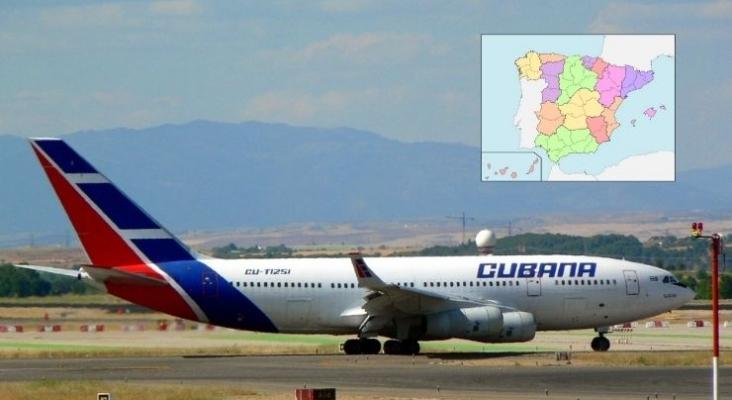 Cubana de Aviación seguirá volando pese a quedarse fuera del sistema de pagos de IATA en España  Foto de Wikimedia Commons (CC BY SA 3.0) & mapa (CC BY 3.0)