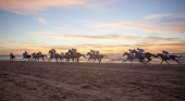Carrera de caballos en la costa