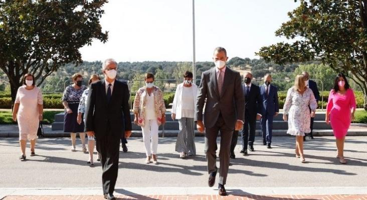 El Rey Felipe VI se reúne con el Grupo Barceló con motivo del 90 aniversario de la compañía. Foto vía Twitter (@CasaReal). © Casa de S.M. el Rey