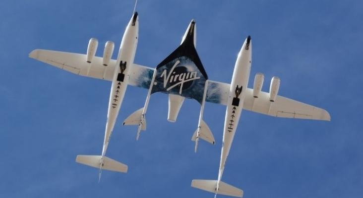 Nave de Virgin Galactic. Foto de Wikimedia Commons (CC BY 2.0)