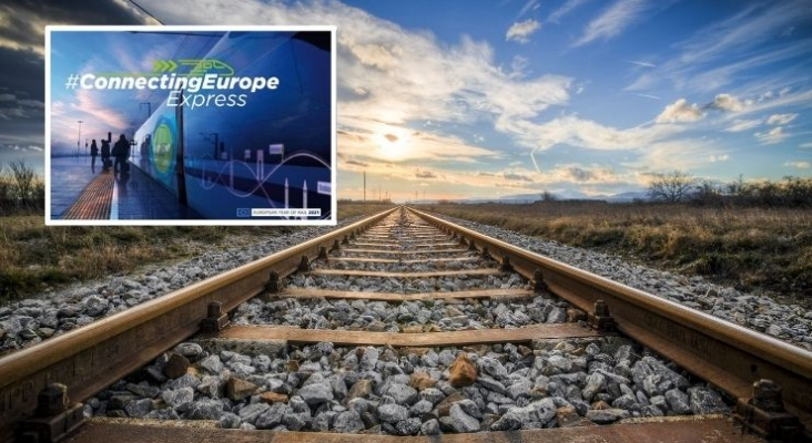 Un viaje sin pasajeros para celebrarel Año Europeo del Ferrocarril recorriendo toda la UE. Foto esquina superior izquierda lamoncloa.gob.es