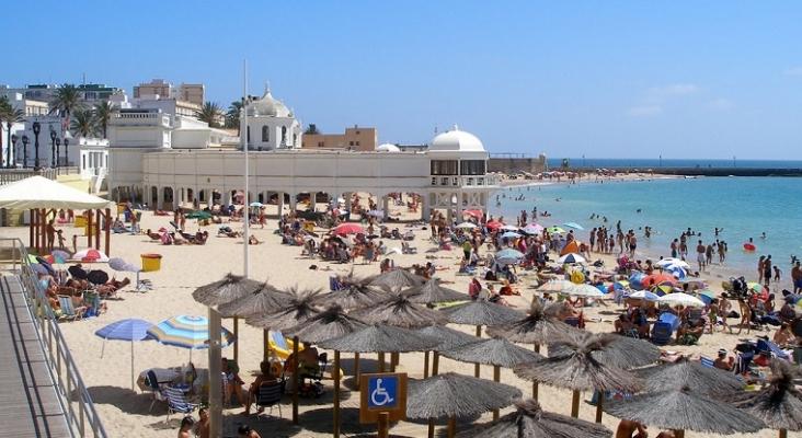 Cádiz bate récords de turismo nacional en el mes de julio. Foto: @Photolanda