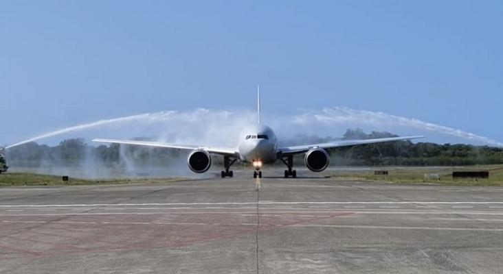 Llegada del vuelo de Nordwind que cubre la ruta entre Moscú (Rusia) y Puerto Plata (República Dominicana) Foto AerodomRD