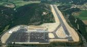 Vista aérea del Aeropuerto Andorra-La Seu d'Urgell