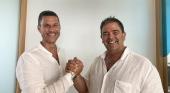 Los presidentes de ambos grupos, Othman Ktiri de OK Group (izda.) y Ovidio Andrés de Smy Hotels (dcha.)