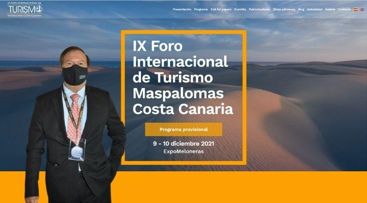 Juan Manuel Benítez Del Rosario, presidente del comité organizador. Foto Tourinews & landing page de foroturismomaspalomas.com