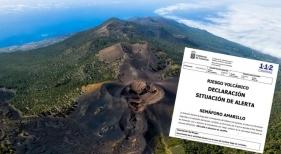 ¿Cómo afectaría al turismo una erupción volcánica en La Palma? Foto principal del cráter del volcán de La Palma, vía turismo Islas Canarias.