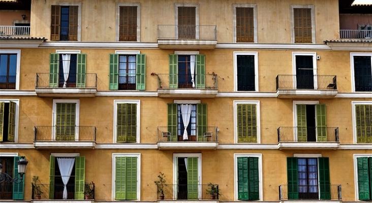 Fachada de un edificio en Palma (Mallorca)