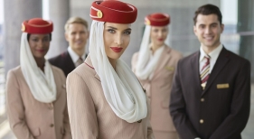 Tripulantes de cabina de Emirates