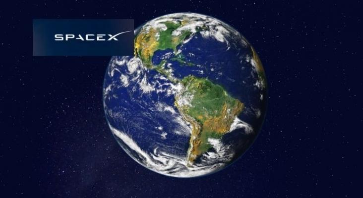 """SpaceX hace historia al enviar la primera misión espacial tripulada enteramente por """"turistas"""" . Logo de SpaceX"""