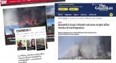 La prensa internacional se hace eco de la erupción volcánica en La Palma