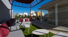 Terraza del Boutique Hotel Cordial Malteses, en Las Palmas de Gran Canaria