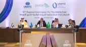 El secretario general de la OMT, Zurab Pololikashvili, junto al ministro de Turismo de Arabia Saudí, Ahmed Al Khateeb, durante la inauguración de la oficina regional de la OMT en Oriente Medio | Foto: OMT