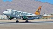 Avión de Frontier Airlines   Foto: Tomás del Coro