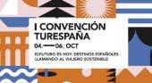 Cartel I Convención de Turespaña con destinos turísticos