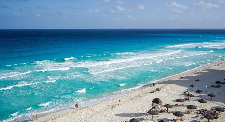 Playa en Cancún, México
