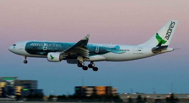 Avión de Azores Airlines