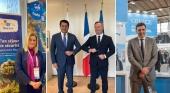 De izda. a dcha. Nikolina Brnjac (Croacia), David Collado (R.Dominicana), Jean Baptiste Lemoyne (Francia) y Vassilis Kikilias (Grecia)