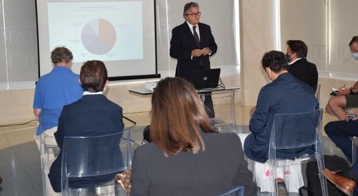 Jesualdo Ros, secretario general de PROVIA, durante la presentación