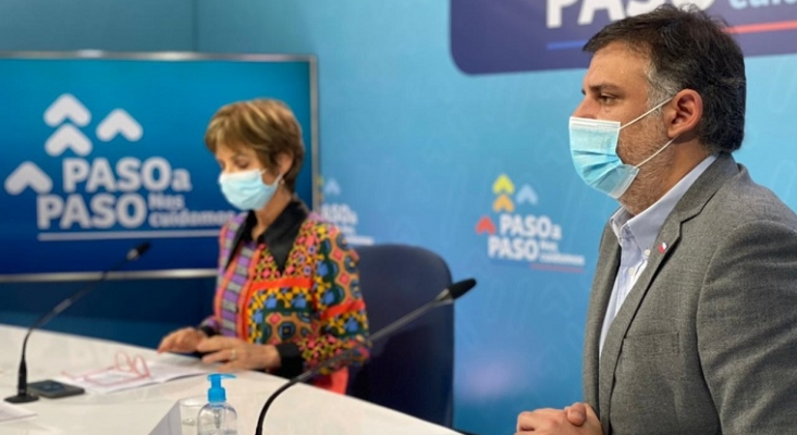 Paula Daza, subsecretaria de Salud Pública, y José Luis Uriarte, subsecretario de Turismo de Chile   Foto: Subsecretaría de Turismo vía Twitter