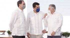 Acto del primer palazo para la construcción del Santiago Center (Santiago de los Caballeros, República Dominicana).
