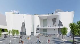 Diseño del arquitecto Toyo Ito de la sede del Museo Hermitage en Barcelona | Foto: Toyo Ito & Associates, Architects
