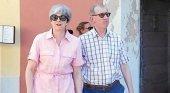 Theresa May con su marido de vacaciones en Italia