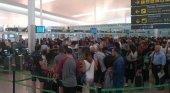Colas en el Aeropuerto de Barcelona