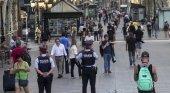 Policia en las Ramblas