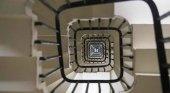 Escalera en el interior del Big Ben