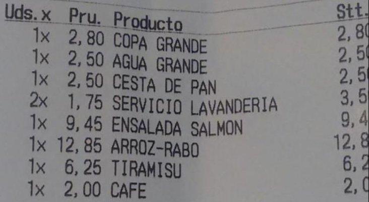 Servicio de lavandería 3,50 euros