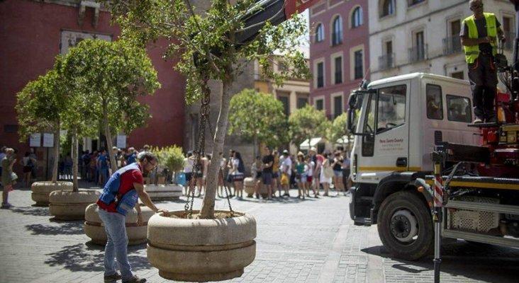 El Ayuntamiento de Sevilla instala barreras en las zonas turísticas de la ciudad