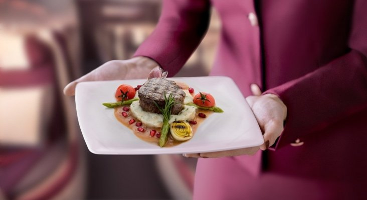 Menú de Qatar Airways