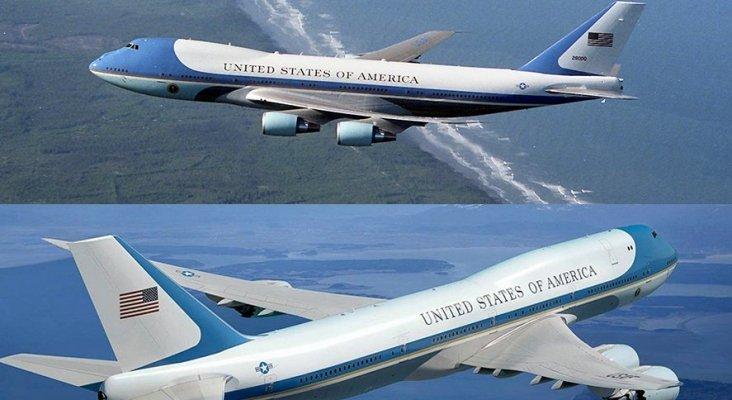 Por qué los aviones estadounidenses llevan la bandera al revés?