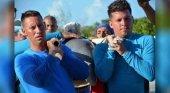 Delfines trasladados en Cuba