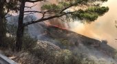 Imágenes del incendio en Tejeda