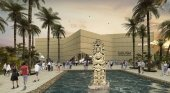 Vista futura del museo de arqueología y antropología maya