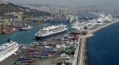 Cruceros en el puerto de Barcelona